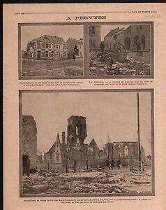 """WWI Belgique Pervijze Pervyse parochiekerk Sint-Niklaas Ruines 1914 ILLUSTRATION - France - Commentaires du vendeur : """"OCCASION"""" - France"""
