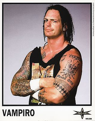 WCW PROMO PHOTO VAMPIRO OFFICIAL WRESTLING 8x10 FROM 1999