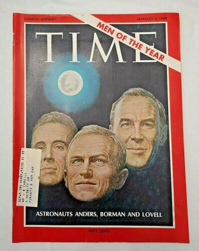 Time Magazine January 3 1969 Astronauts Anders Borman Lovell Men of the Year