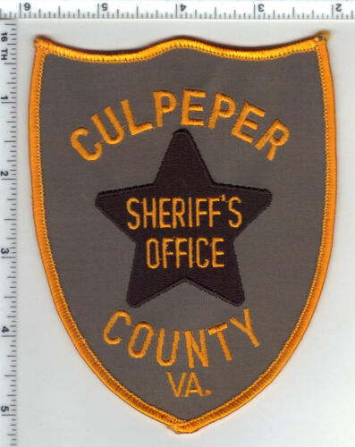 Culpeper County Sheriff (Virginia) Uniform Take-Off Shoulder Patch from 1980