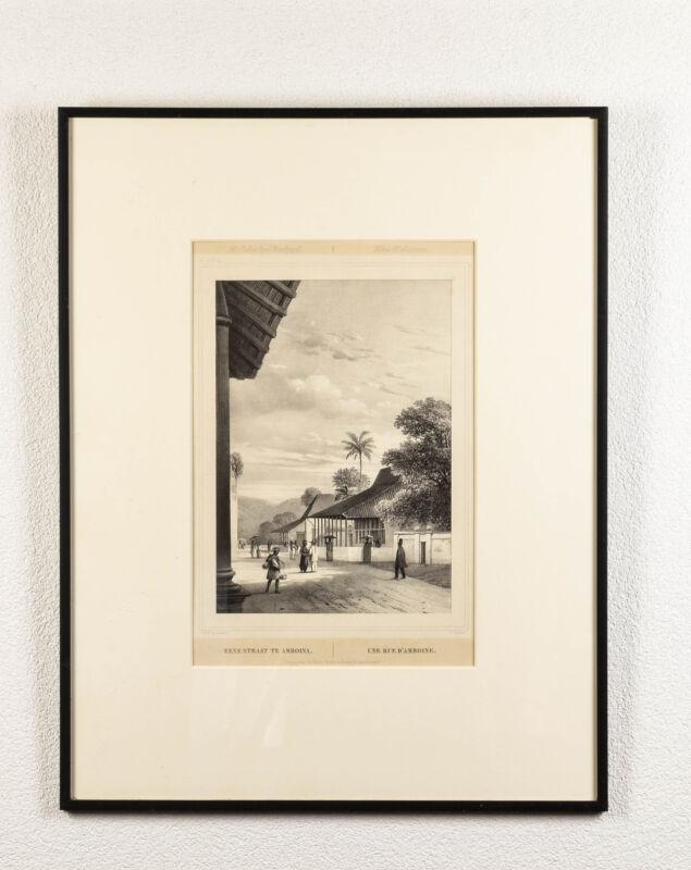 Antique Print MALUKU ISLANDS AMBON Street in INDONESIA Buffa Amsterdam 1844