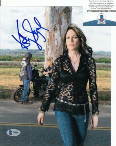 KATEY SAGAL signed (SONS OF ANARCHY) 8X10 photo *Gemma Teller* BECKETT T29643