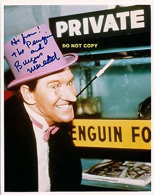 BURGESS MEREDITH 8X10 AUTHENTIC IN PERSON SIGNED AUTOGRAPH REPRINT PHOTO RP