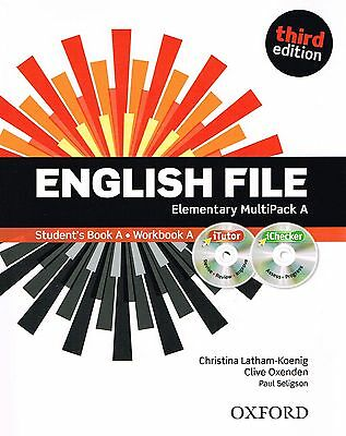 ENGLISH FILE Elementary Third Edition MultiPack A w iTutor + iChecker CD's @NEW@