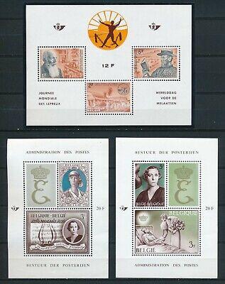 Belgien 3 Blöcke aus 1964 und 1966 postfrisch
