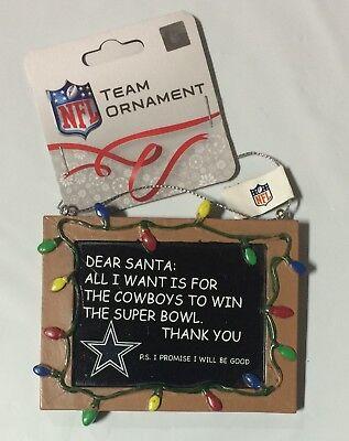 Dallas Cowboys Christmas Tree Ornament Chalkboard - All I want is a Superbowl (Dallas Cowboy Ornaments)