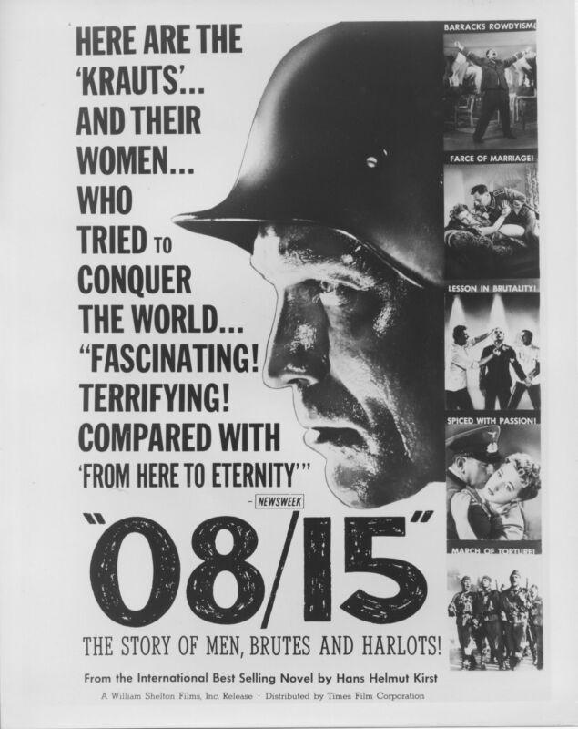 08/15/NAZIS original movie photo JOACHIM FUCHSBERGER b/w 1954 artwork still