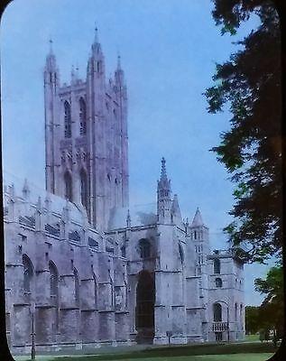 Canterbury Cathedral, Kent, England, Magic Lantern Glass Slide, NO LABEL