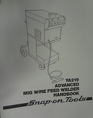 Snap-on Mig Welder Parts Owners Manual Ya219