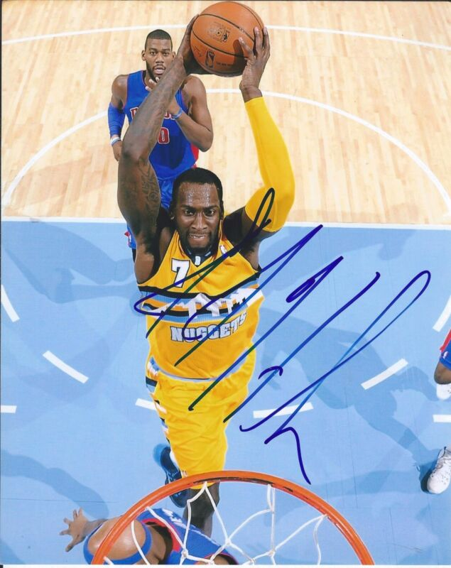 J.J. HICKSON SIGNED AUTOGRAPHED 8X10 PHOTO DENVER NUGGETS STAR