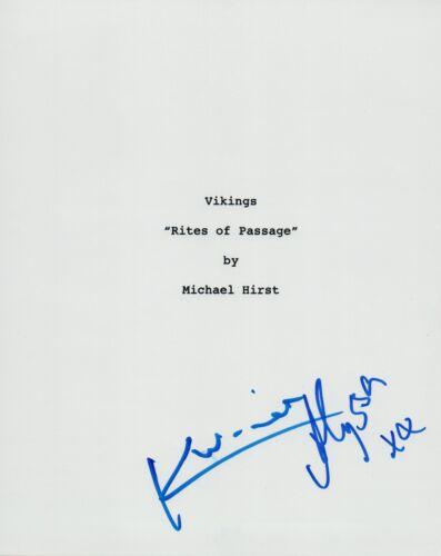 Katheryn Winnick & Alyssa Sutherland Signed Autograph VIKINGS Pilot Script VD