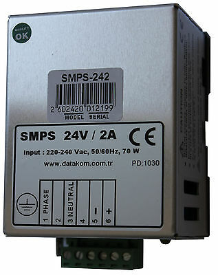 Datakom Smps-242 Din Rail Generator Battery Charger 24v2a Dc Power Supply