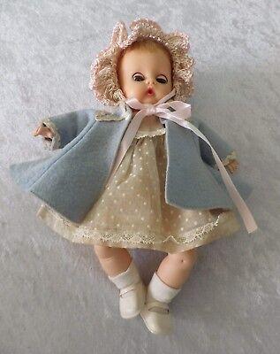 "Vtg Vogue baby doll tagged clothes Li'l Dear Ginnette shoes 8"" sleep eyes"