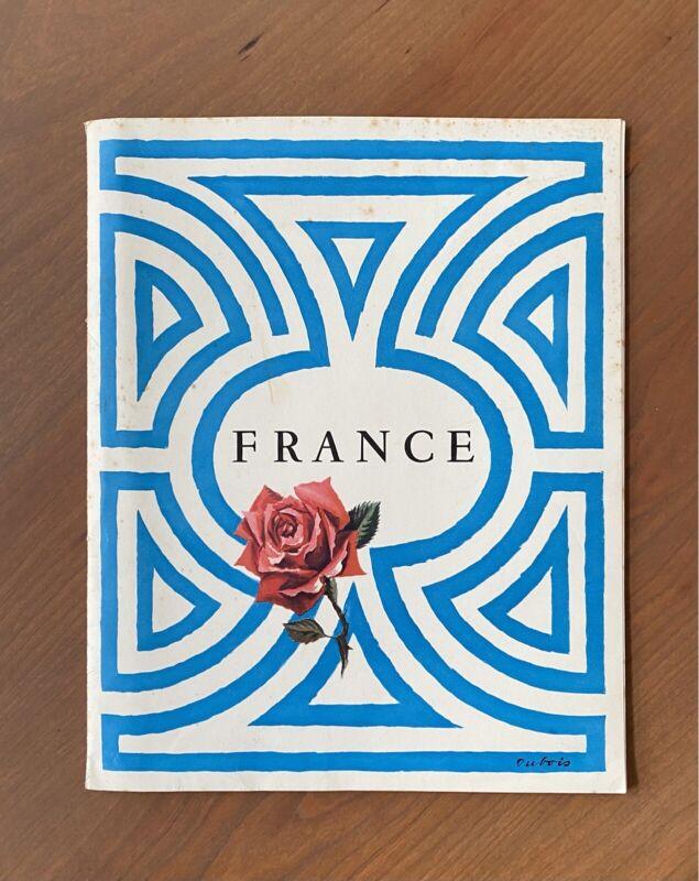 Vintage French Tourism Brochure with Map Insert - France Travel Paris Tourist