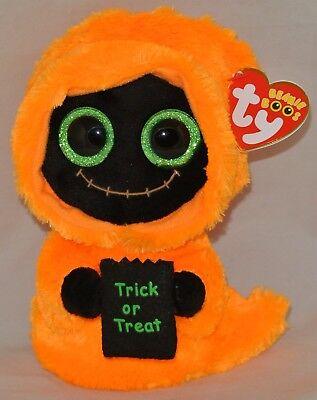 2017 Ty Beanie Boos Halloween SEEKER Black/ Orange Reaper 6