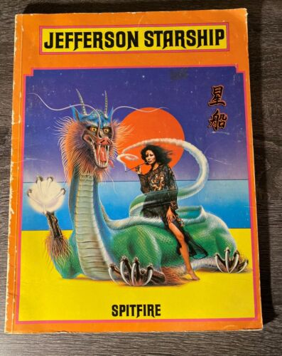 Vintage 1976 Jefferson Starship: Spitfire Songbook- Photos Voice Chords Piano