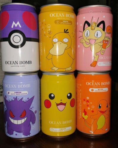 Pokemon Ocean Bomb Drinks Set of 6 NEW UNOPENED