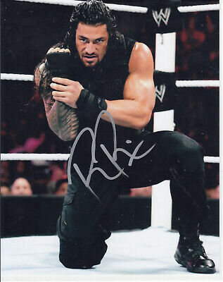 """Roman Reigns WWE Championship Signed Auto Autograph 8""""x10"""" Photo  for sale  Shipping to India"""