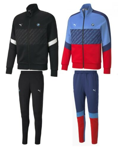 PUMA BMW M Motorsport Men's T7 Track Jacket Jogging Pants Tracksuits Black Blue