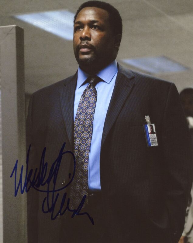 """Wendell Pierce """"The Wire"""" AUTOGRAPH Signed 'Det. Bunk Moreland' 8x10 Photo"""