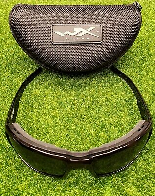 Wiley X WX Titan Sunglasses Polarized Grey Lens, Gloss Black Frame - (Titan Sunglasses)