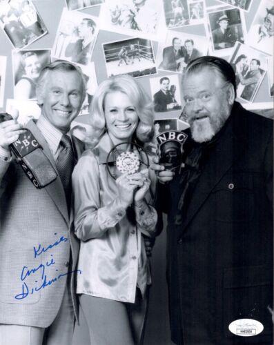 ANGIE DICKINSON Signed ORSON WELLES SHOW 8X10 Photo Autograph JSA COA Cert