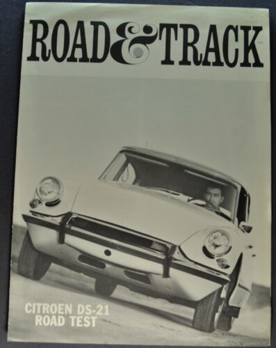 1966 Citroen DS-21 Road Test Sales Brochure Folder Excellent Original 66