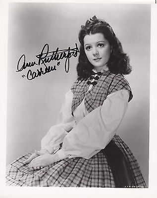 ANN RUTHERFORD hand signed 8x10 b&w photo photograph autographed  CARREEN