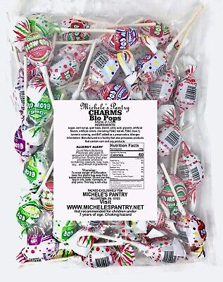 Charms Assorted Blow Pop Lollipops 2 Lb Bulk Family Pack](Bulk Lollipops)
