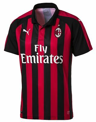 Puma 2018-19 AC Milan Home Jersey-Black/Red
