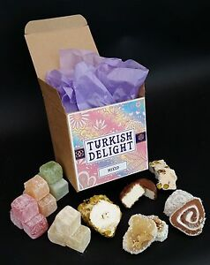 Turkish Delight Mixed Flavoured Christmas Gift Authentic & Fresh 400g Free P&P
