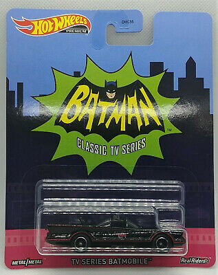 Hot Wheels Premium 1966 66 Classic Batman TV Show Series Batmobile Real Riders