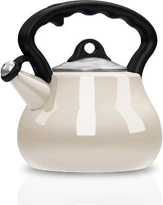 Remedy Lovely Lady 2-Quart Porcelain Enamel Tea Kettle in Pe