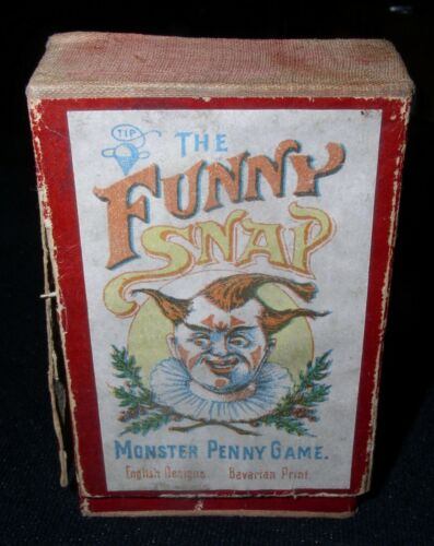 The Funny Snap~Monster Penny Card Game~ca.1920s English, Printed in Bavaria