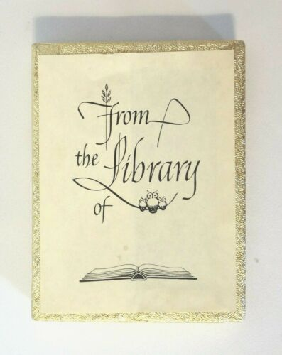 """23 Antioch Bookplate Labels Ex Libris """"From The Library of _____"""" Self-Stick"""