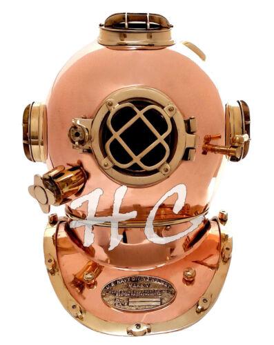 """Scuba Diver Solid Brass Vintage Antique Divers Diving Helmet US Navy Mark V 18"""""""