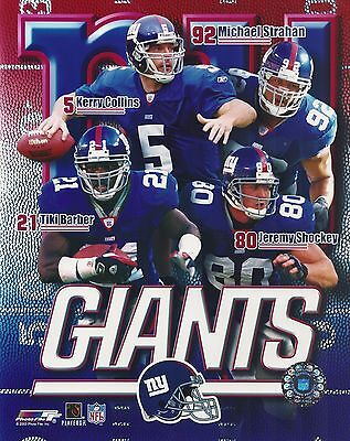 - Tiki Barber - Kerry Collins - Shockey - Strahan- NY Giants - picture 8x10 photo