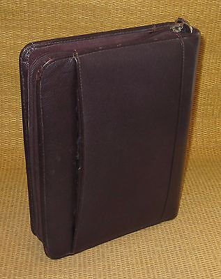 Classic 1.5 Rings Burgundy Leather Franklin Covey Zip Plannerbinder Usa