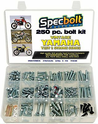 Vintage Yamaha Fasteners for YZ IT MX DT 100 125 175 200 250 360 400 465 490 for sale  West Covina