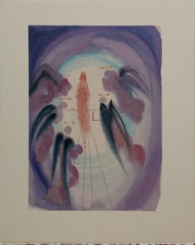 "Salvador Dali ""paradise Canto 24"" | Rare Woodlock Print | Others Avail | Gallart"