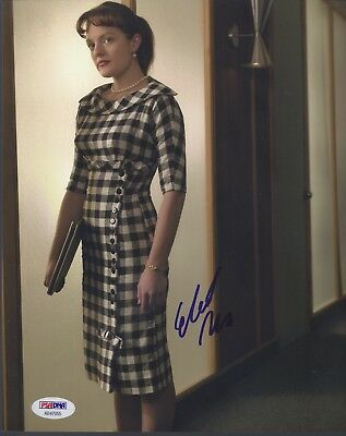 Elisabeth Moss Signed Mad Men 8X10 Photo Autograph Psa Dna Coa