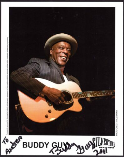 Buddy Guy signed 8x10 promo photo / autograph inscribed