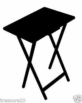 تربيزه جديد  Folding Wooden TV Tray Table Serving Snack Home Office Furniture Black