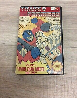 Transformers Volume 1 More Then Meets The Eye VHS Original Box B95