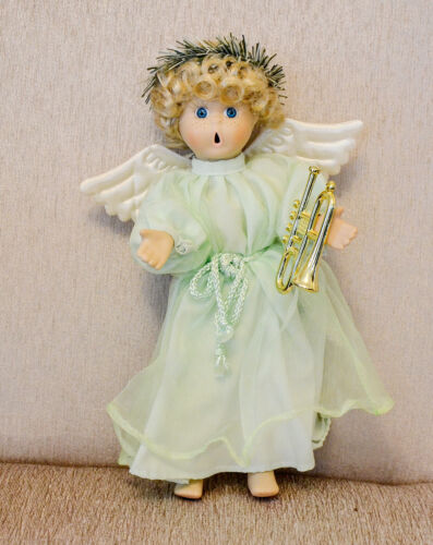 "10"" Angel Porcelain Dressed Decorative Doll New"