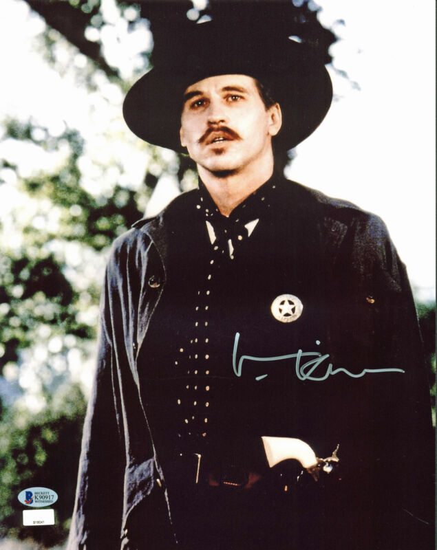 Val Kilmer Tombstone Authentic Signed 11x14 Photo BAS