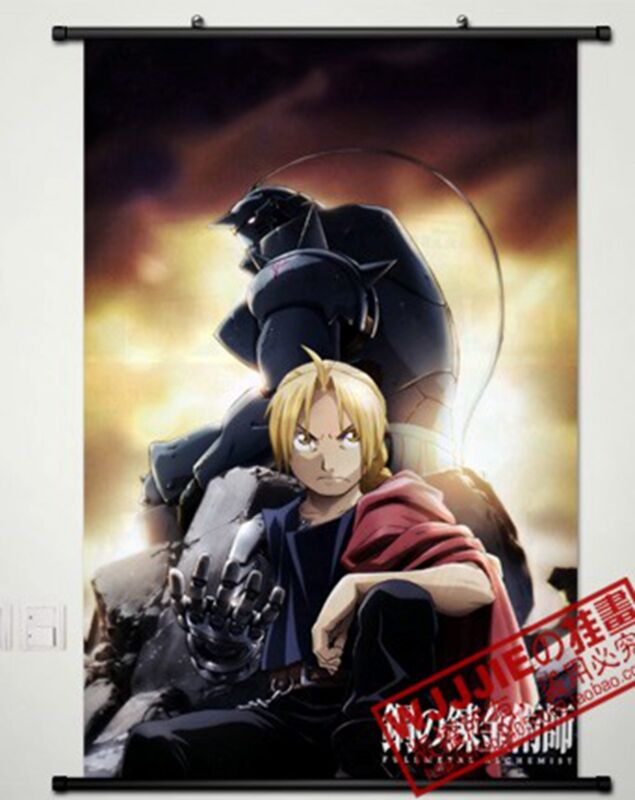 Anime Home Decor Poster Wall Scroll Fullmetal Alchemist 60*90cm as gifts