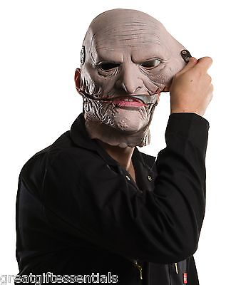 COREY TAYLOR SLIPKNOT MASK Removable Upper Face Costume Latex Gray Pink LICENSED