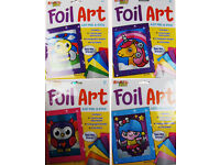 Bee Unicorn Owl fairy Set Of 4 Make Your Own Foil Art Craft Pictures