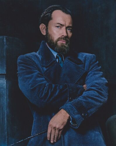 Jude Law Signed Fantastic Beasts: The Crimes Of Grindelwald 10x8 Photo AFTAL